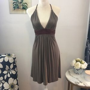 Sky Leather and Viscose Summer Dress Sz XS